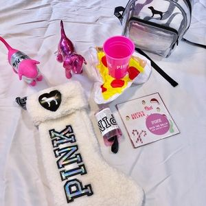 Small bulk PINK items! Dogs, backpack, & more